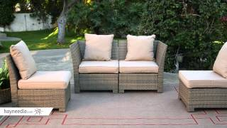 Coral Coast South Isle All Weather Wicker Natural Sectional Set Seats 4 Product Review Video Youtube