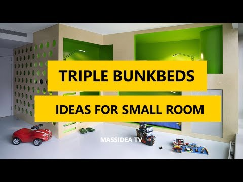 35+ Best Triple Bunk Beds Designs Ideas for Small Room 2017