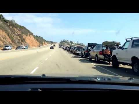 Trip to Malibu Beach California, Scenic Drive on Pacific Coast Highway along the Ocean