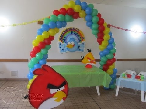 b781ef678 🎁 DECORACION FIESTA TEMATICA ANGRY BIRDS - YouTube