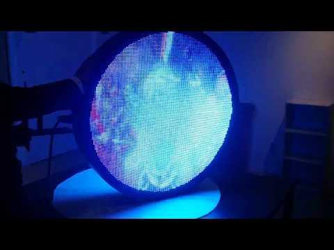 両面LEDディスプレイ円形看板「Bit Sign HD」ビットサイン・最新LEDディスプレイ看板