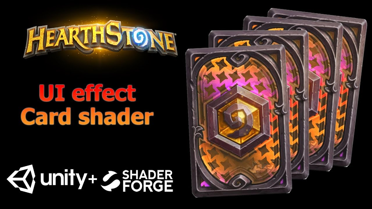 Game UI effect tutorial - Card shader effect   HearthStone card   Unity3d +  Shader Forge