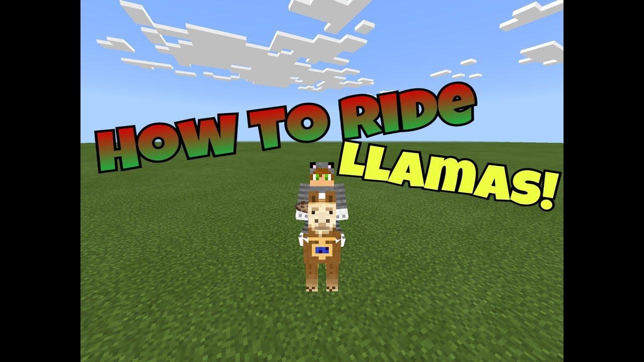 HOW TO RIDE LLAMAS IN MINECRAFT PE!