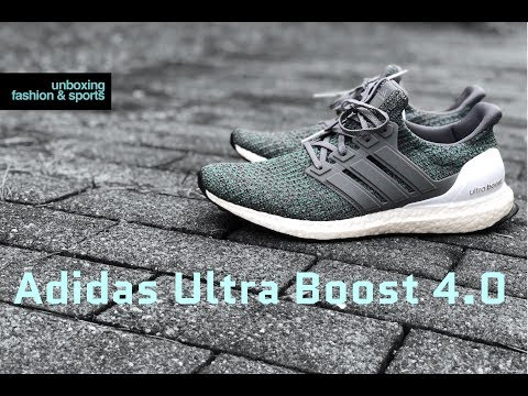 Adidas Ultra Boost 4.0 'Grey Four/Hi-Res Green' | UNBOXING & ON FEET | fashion shoes | 2018 | 4K