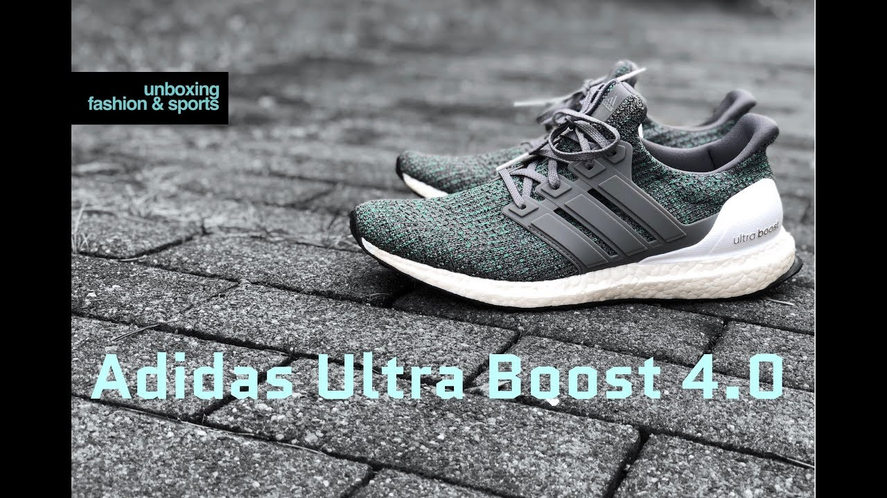 another chance dc281 4a20f Adidas Ultra Boost 4.0 'Grey Four/Hi-Res Green' | UNBOXING & ON FEET |  fashion shoes | 2018 | 4K