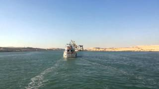 New Suez Canal 24 hours before the end of the dredging and operating demo July 23, 2015