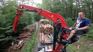 Driver with perfect skills - Scania in forest