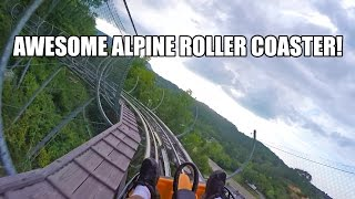 Smoky Mountain Alpine Roller Coaster POV Pigeon Forge TN