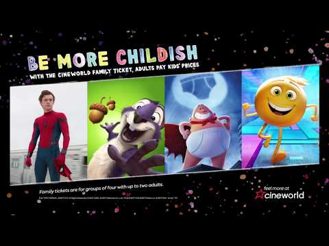 Be More Childish with the Cineworld Family Ticket