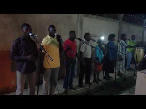 """Grupo Instrumental Kiandu Cabinda """"GIKCAB"""", nos ensaios. Saudações à Mana Mónica."""