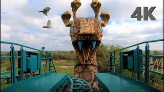 Cobra's Curse On Ride, Front and Back | Busch Gardens Tampa
