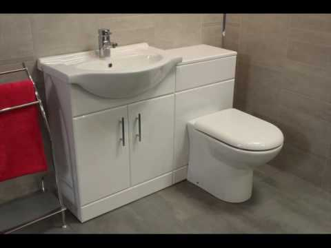 Toilet and Sink Vanity Unit with Storage UK - YouTube