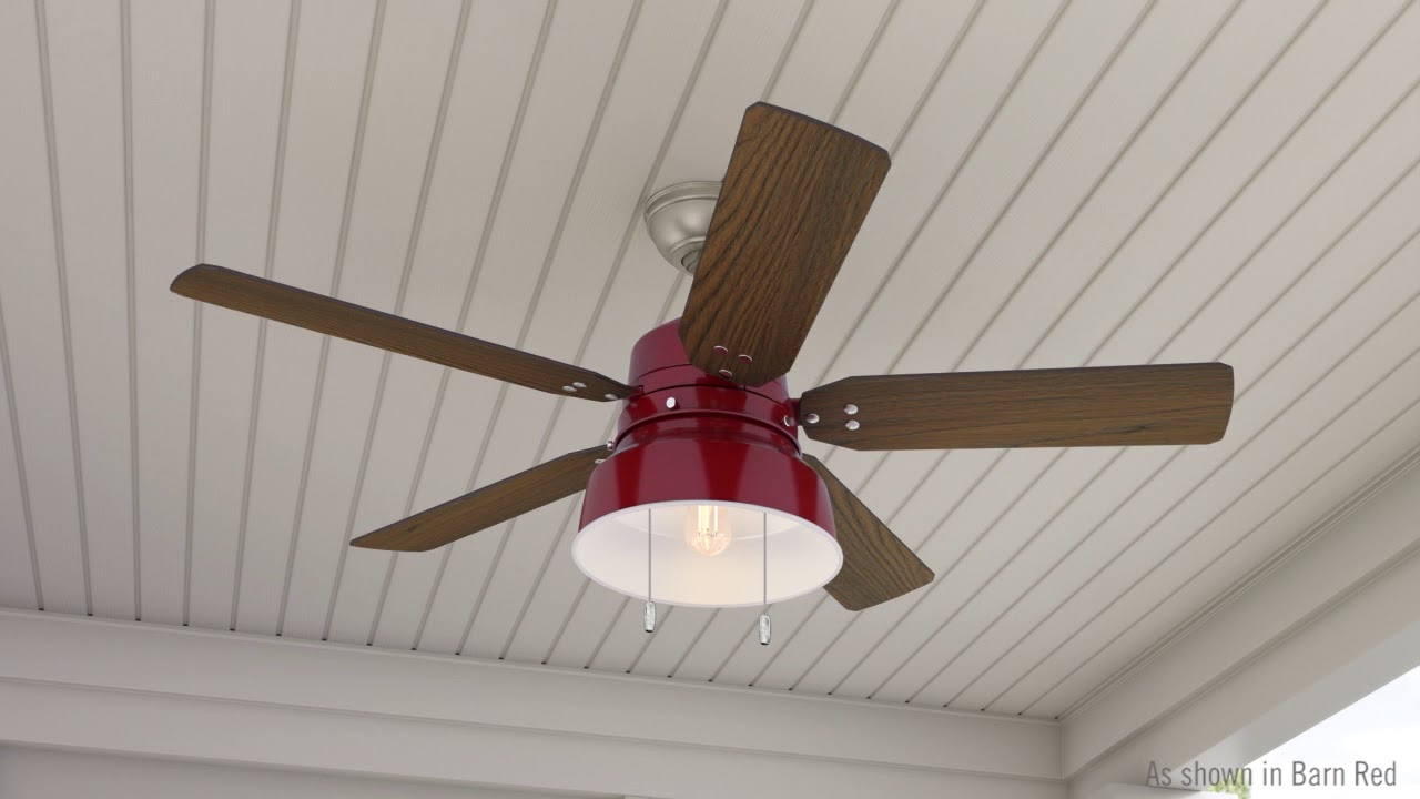 Mill Valley Barn Red Ceiling Fan With Light