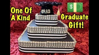 DIY Money Cake! Very easy and different! Surprise Your Grad With THIS !!!