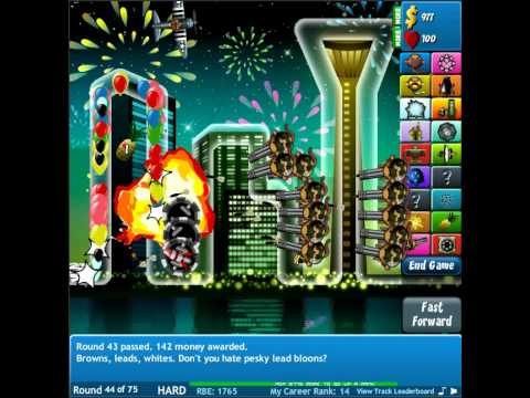 Ninjakiwi bloons tower defense 4 round 44 by Niko7008ify1