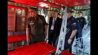 Сергей Шойгу осмотрел авиаэкспозицию форума «Армия-2019» в подмосковной Кубинке