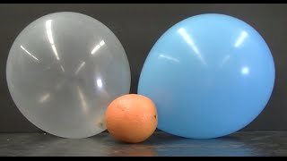 Not all balloons pop when squirted with an orange peel