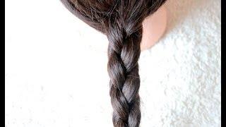 Коса из 4 прядей вариант 3