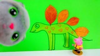 Поделки из природного материала! Динозавр для Джорда! Видео с игрушками!(Джордж очень хочет себе динозаврика, хорошо, что кошечка Тося знает к кому можно обратиться за помощью,..., 2015-10-09T07:45:59.000Z)
