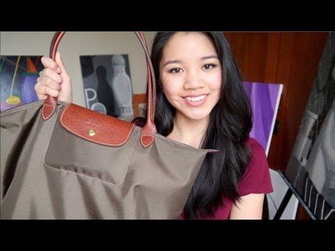 c02692d0e0 What's In My School Bag? Longchamp Le Pliage - YouTube