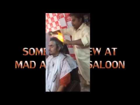 Fire Hair cutting In Mad Art first time in karachi