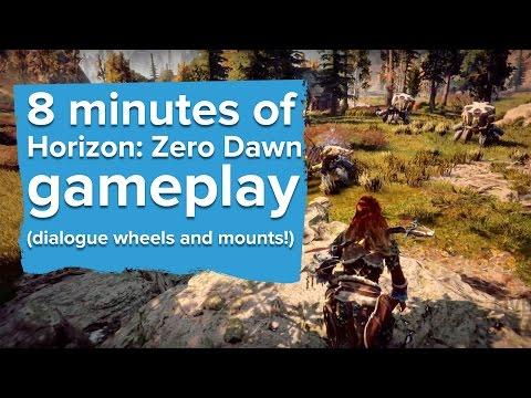 8 minutes of Horizon: Zero Dawn gameplay - PlayStation E3 2016