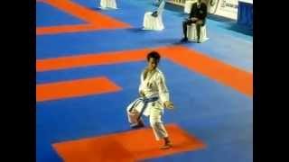 Kata GOJUSHIHO SHO - Sandy Scordo [France] - Karate1 WKF Indonesia Premier League 2012