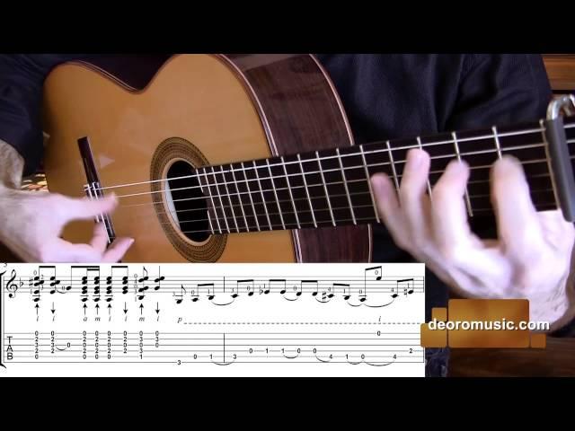 Flamenco Guitar Lesson W/ TABS | Buleria Falseta 6 | Diego de Oro
