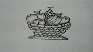 How To Draw a Fruit Basket :Step by step