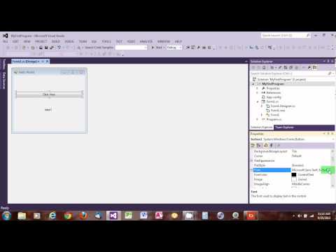 C# Simple Window form program using Visual Studio 2012