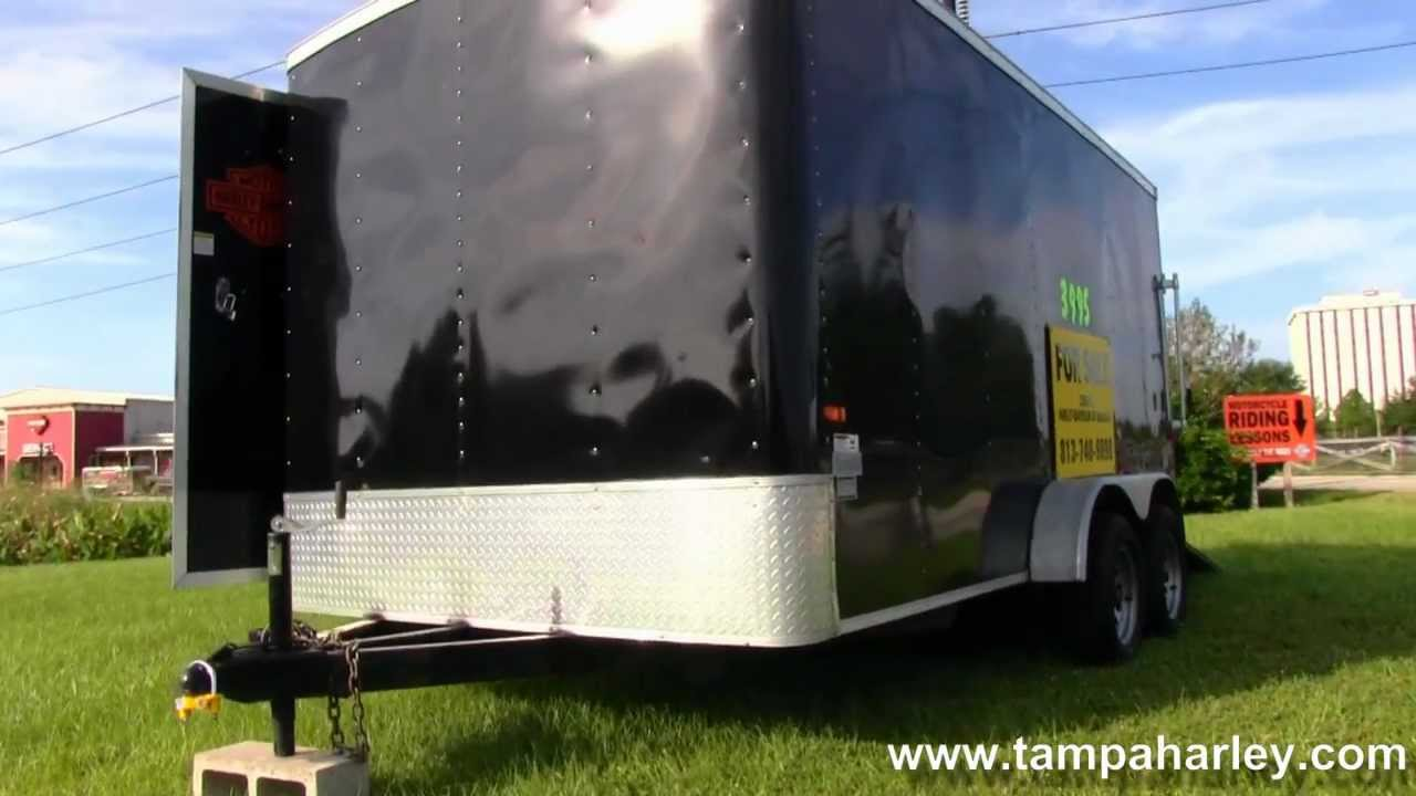 Used 2006 Cargo Craft Enclosed Motorcycle Trailer For Sale Youtube