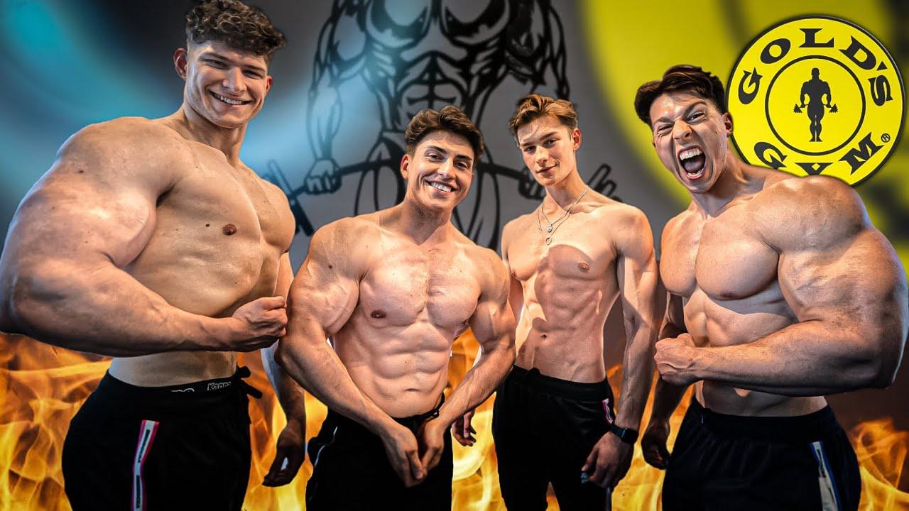 150kg Kurzhantel ballern!💪🏻 Gold's Gym mit #teamrocka