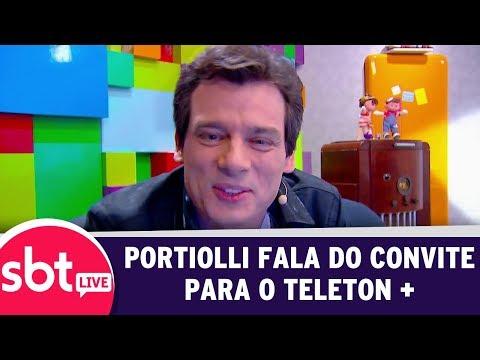 SBT Live Com Teleton+ - Portiolli Fala Sobre O Convite | (09/10/17)