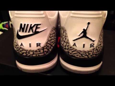 Colonos impuesto cartucho  Air Jordan 3 Retro Cement ''88' vs Jordan 3 Retro Comparison (Jumpman vs Nike  Air Logo) - YouTube