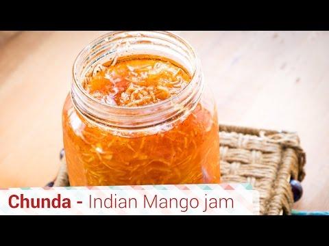 Chunda Recipe - Gujarati Raw Mango Sweet Pickle - Kache Aam ka Chunda, chundo,