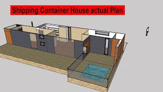 Shipping Container House Actual Plan - 720 Sq. Ft. Shipping Container House Plans