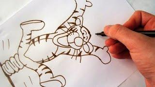 Como Desenhar o Tigrão [Ursinho Pooh] - (How to Draw Tigger) - SLAY DESENHOS #113