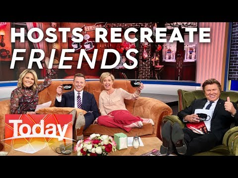 Hosts recreate scenes from Friends on the original couch | Today Show Australia