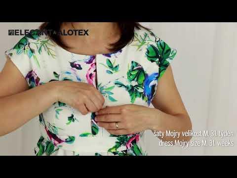 9fashion Mateřské šaty Mojry Květiny