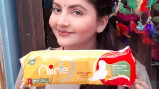 Nine sanitary napkins review | affordable pad for periods for women | sanitary napkins in India |