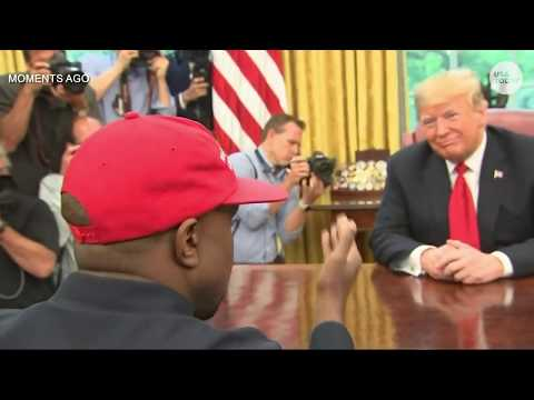 Kanye West meets with President Trump at White House - Warning: Stream may contain profanity