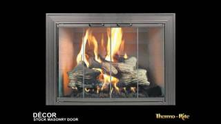 Decor Fireplace Glass Doors