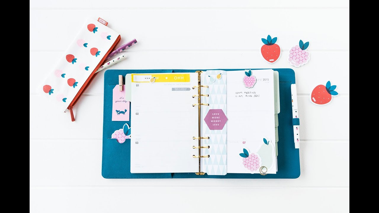 How to Get Organised with your kikki.K Planner - YouTube