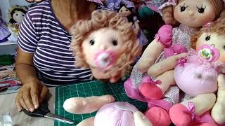 Boneca Bebê de Fuxico com Perninha e Bracinho 😍