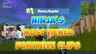 Ninja's Most Viewed Fortnite Clips Of All Time
