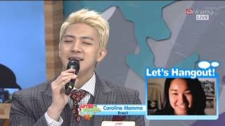 mblaq cheondung sing for a fan in asc 140401