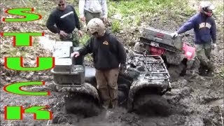 STUCK!! JUST SOME FUN IN THE MUD ON THE INDIAN RIVER ATV POKER RUN!