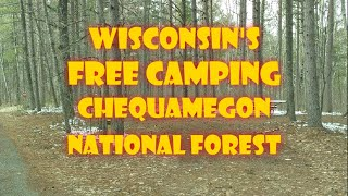 Wisconsin's Free Camping Chequąmegon National Forest