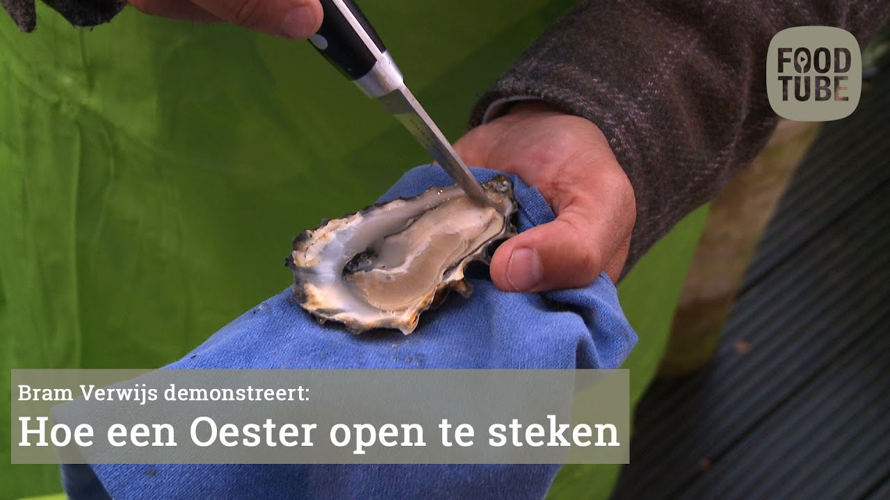 hoe een oester openen