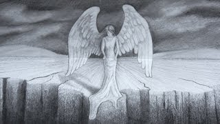 How to Draw an Angel in 3D - Optical Illusion
